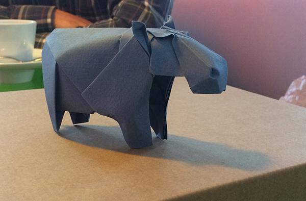 artinCom Angel Morollón origami hipopótamo