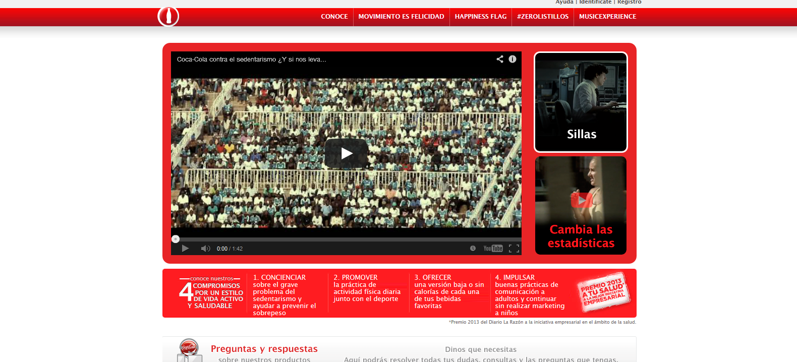 artinCom web CocaCola color rojo