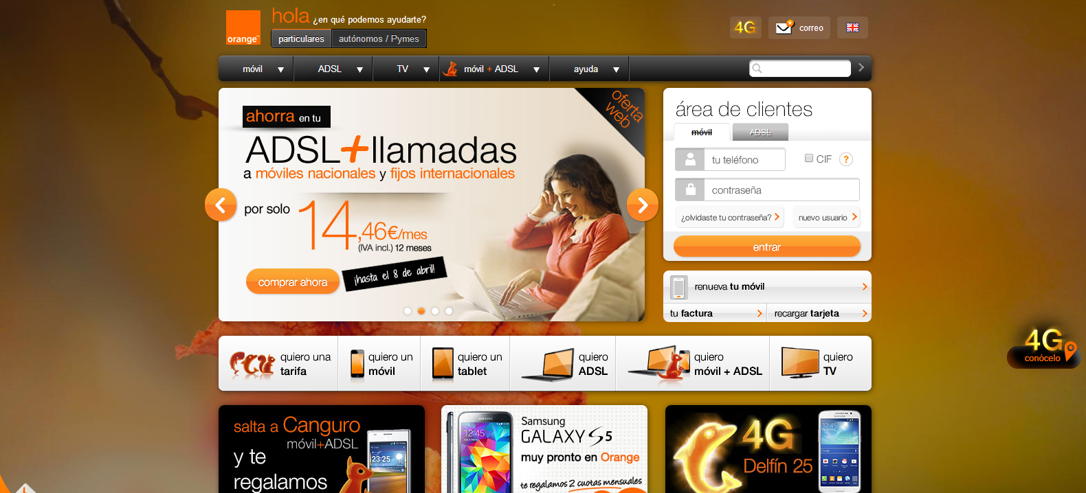 arinCom web Orange color naranja