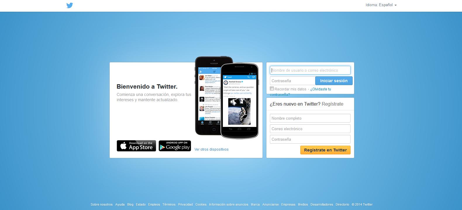 artinCom web Twitter color azul